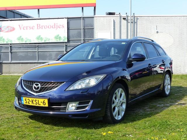 Mazda 6 Sportbreak 2.5 S-VT Executive - 6-Bak, Navigatie, Airco, CruiseControl, Leder, Parkeersensoren, Trekhaak