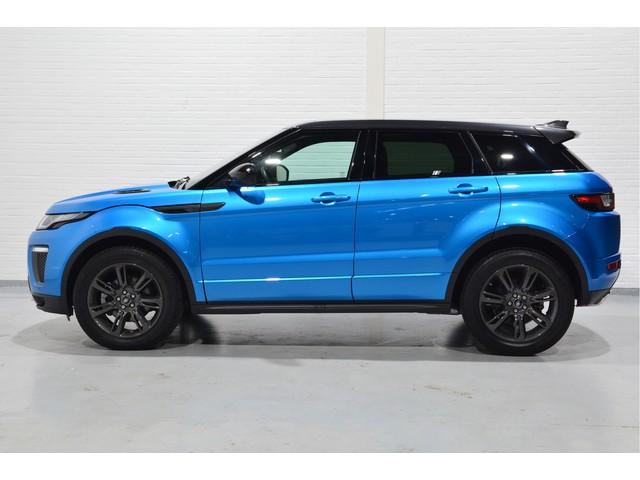 Land Rover Range Rover Evoque 2.0 TD4 180pk LandMark Automaat, Zwart Leder, Morraine Blue, Panodak, Navi