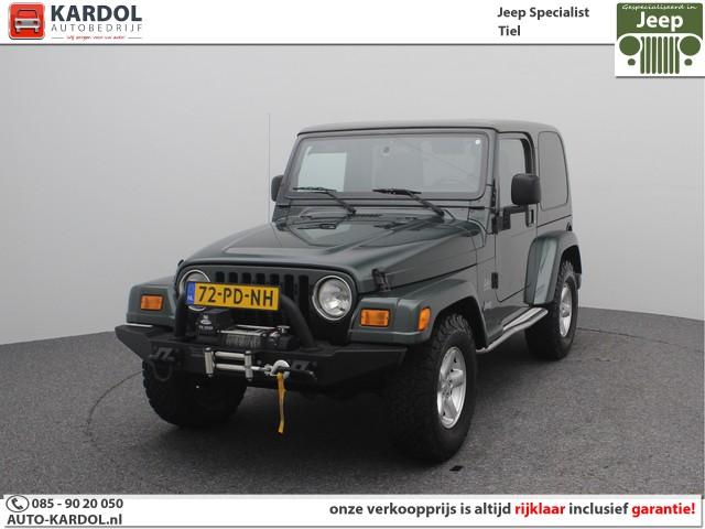 Jeep Wrangler 4.0 Hardtop & Softtop Sahara | Rijklaarprijs | Airco | Cruise | LM | TH