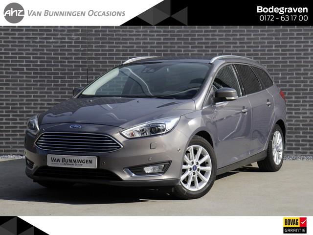 Ford Focus Wagon 1.0 125pk Titanium *Navigatie | Xenon | Trekhaak | Stoelverwarming* Zeer compleet!!