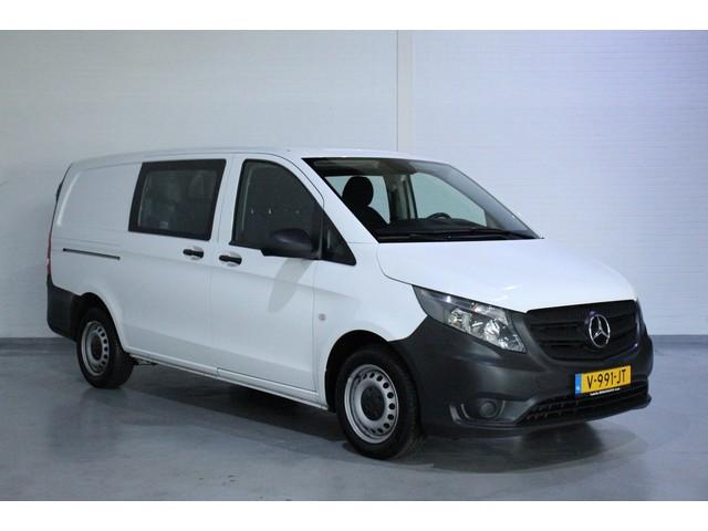 Mercedes-Benz Vito 111 CDI 114pk Lang, Dubbel Cabine, 6 Zitplaatsen, Bluetooth, Cruise, Airco Goedkoopste in NL