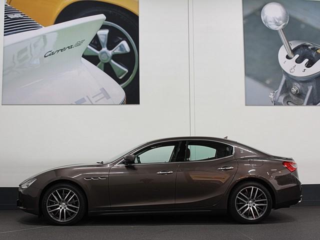 Maserati Ghibli S Q4 410pk Full Service & 12 mnd Garantie   Sportuitlaat   Bruin Leder   Carbon   Camera.