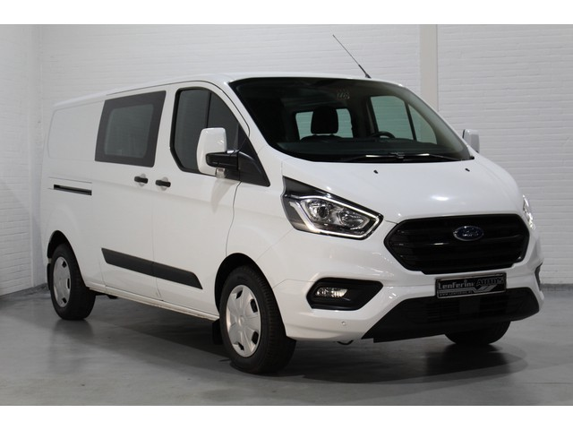 Ford Transit Custom 2.0 TDCi 130 pk Dubbel Cabine Trend L2H1 Airco, PDC V+A, Achterklep, Cruise, Bluetooth