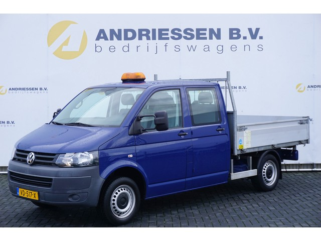Volkswagen Transporter T5 2.0 TDI L2H1 3-Zijdige Kipper **51.513KM** Trekhaak