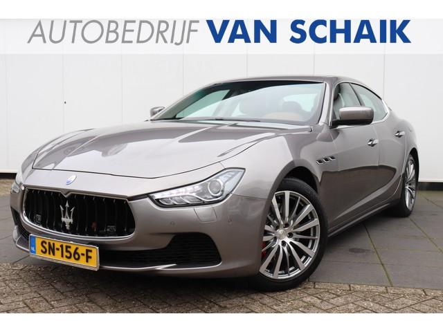 Maserati Ghibli 3.0 S Q4   411 PK   V6   NAVI   LUCHTVERING   LEDER   CAMERA   CRUISE   CLIMATE   LMV   XENON  