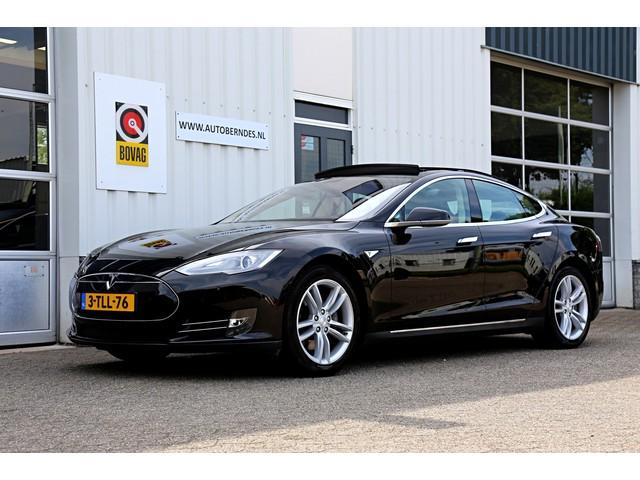 Tesla Model S 85 Base*NL-Auto*Wegenbelasting vrij tot 2025!*Elek. Panoramadak Vol Leder Bi-Xenon Keyless Entry+Go Stoelverw. Elek. Achterklep
