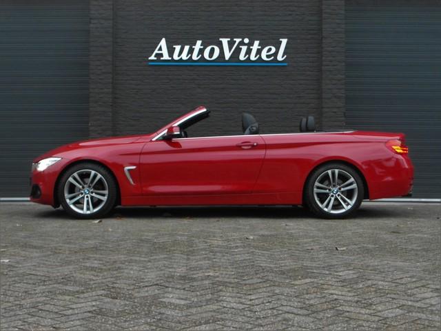 BMW 4 Serie Cabrio 420i Sportleder, Head-Up, Navi, HiFi-Premium, Nekverwarmer, Verkeersbordherkenner - 2016