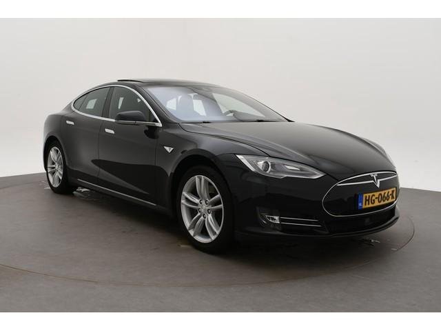 Tesla Model S 85 Base Bj 2015 Km 153.000 Leer,Navi,Schuifdak,19Inch Dealer onderhouden ex btw