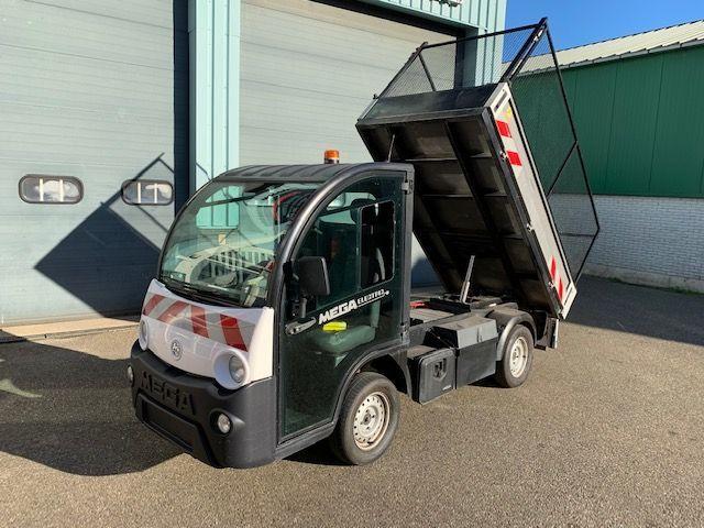 Goupil G4 G 4 Mega E worker Elektrische Transporter Kipper  Kiepauto lange wielbasis