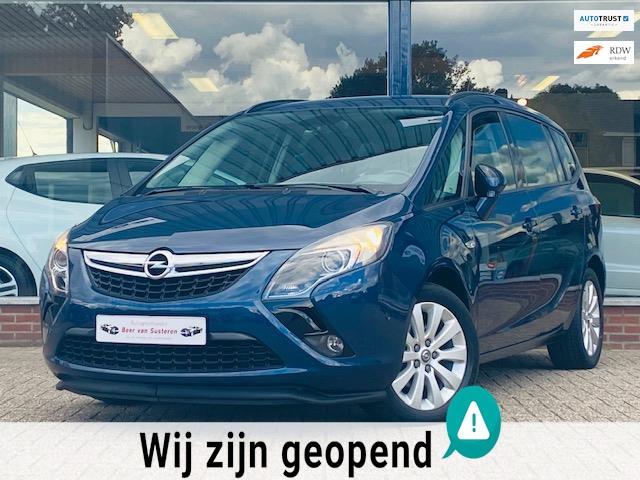 Opel Zafira Tourer 1.4 Edition 7p. Cruise Stoel&stuurverwarming Airco ECC Fietsendrager! 1e eigenaar Dealer OH Topstaat!