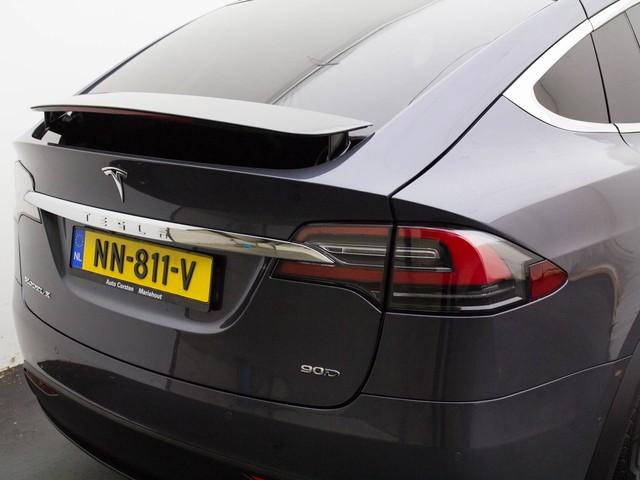 Tesla Model X 90D 6p. (Ex. Btw) AutoPilot (AP2) Luchtvering 4WD 20Wielen Leder Spotify DAB Camera