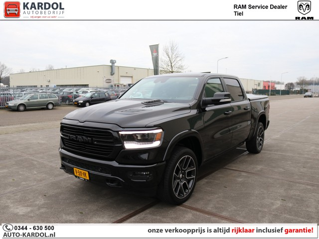 Dodge Ram 1500 5.7 V8 4x4 Crew Cab Laramie Black Package   Full Options Luchtvering 12inch ACC