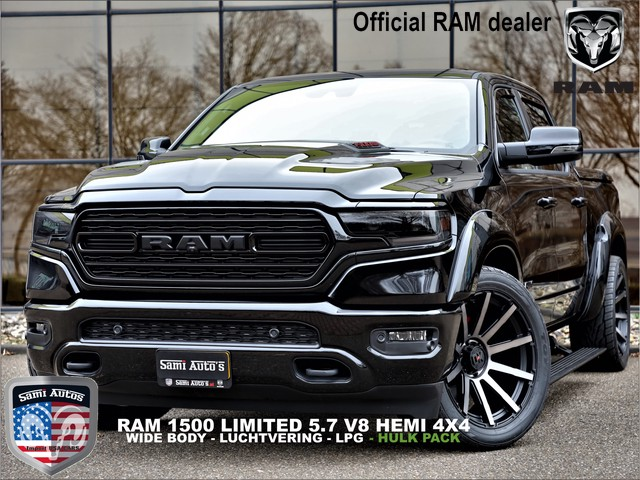 Dodge Ram 1500 LIMITED HULK PACK | V8 5.7HEMI 4X4 | FULL OPTION | WIDE BODY KIT | SMOKE PACK | LUCHTVERING | TONNEAU COVER | CREWCAB | DUB