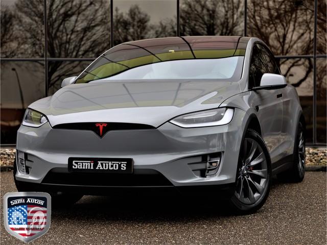 Tesla Model X 100D LONG RANGE    4% BIJTELLING    422PK    AWD    UNIEK    NETFLIX    CAMERA    AUTO PILOT    360 CAMERA    NARDO GRIJS WRAP  