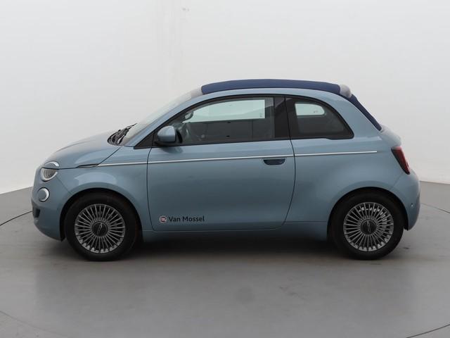 Fiat 500E CABRIO Icon | Climate Control | Adaptive Cruise Control | Navi | Apple Carplay | Keyless | Parkeersensoren | 16'' inch LM velgen | 8% B