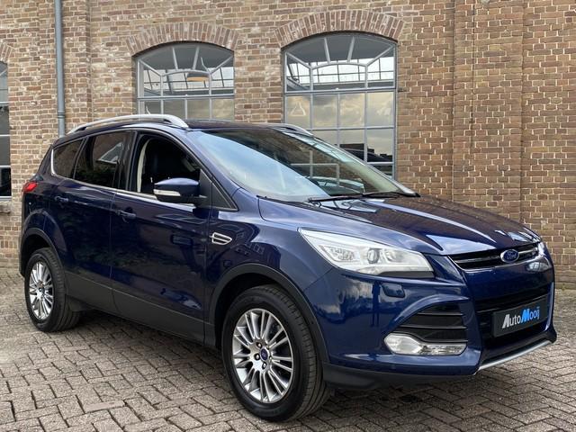 Ford Kuga 1.6 Titanium 4WD Automaat *183 pk* 1 2 Leder, Navigatie, Xenon, Afn. Trekhaak, Keyless, Cruise Control, 17