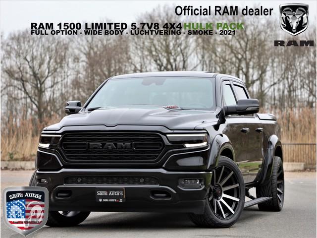 Dodge Ram 1500 LIMITED NIGHT EDITION SPORT HULK SMOKE PACK | RIJKLAAR OP NL KENTEKEN EN 3 JAAR GARANTIE EN ADG | BOM VOL |5.7 V8 HEMI 401P