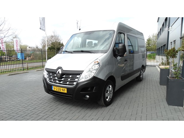 Renault Master T33 2.3 dCi L2H2 dubbele cabine 7 zitpl airco navi cruise luxe