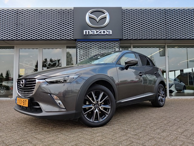 Mazda CX-3 Automaat 2.0 SkyActiv-G 120 GT-M Line | NAVIGATIE | CRUISE-CONTROL | CLIMATE-CONTROL | HEAD-UP DISPLAY | LEDER | PRIVACY GLASS | CAMERA |