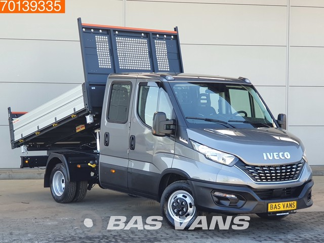 Iveco Daily 35C18 3.0 180PK Automaat 3 zijdige Kipper Tipper Benne Airco Dubbel cabine Cruise control
