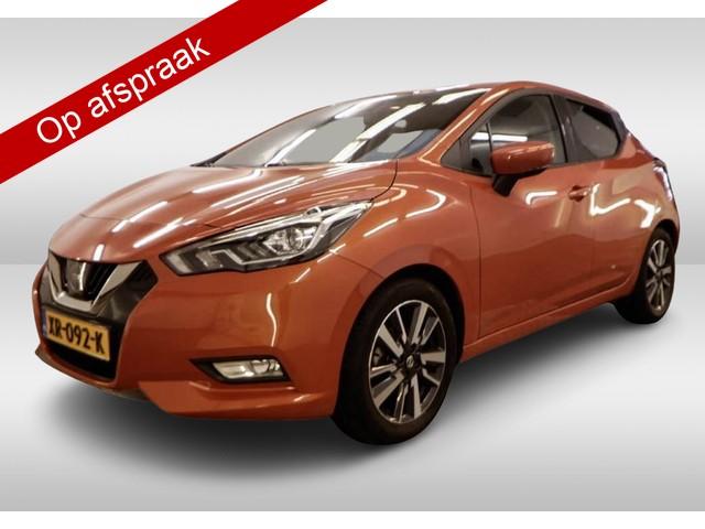 Nissan Micra 0.9 IG-T N-Connecta 1-Ste-Eigenaar, Dealer-onderh., Navigatie, Parkeersensoren-A, A-Camera, NL-Auto, Cruise Control, Stoelverwar