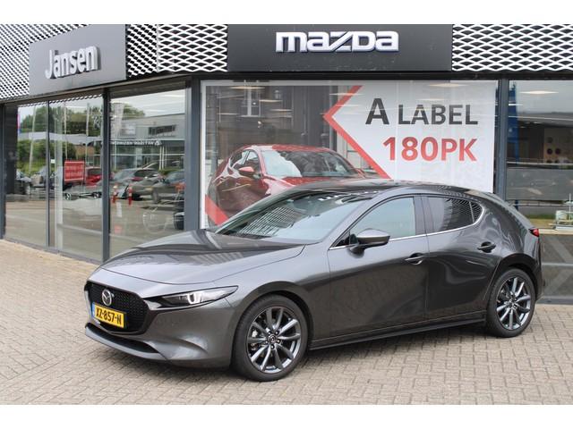 Mazda 3 2.0 SkyActiv-G 122 Luxury Trekhaak, Navi, Clima, Radar cruise, Bose audio, Leder, Camera, PDC, HUD, 18