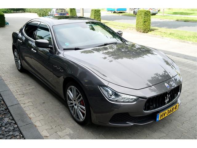 Maserati Ghibli 3.0 V6 Biturbo 243kW 330pk Aut8 Sport CLIMA + CRUISE + ADAPT.BI-XENON + NAVI KLEUR + OPEN DAK + SOFTLEDER + STOELVERWARMING + CA