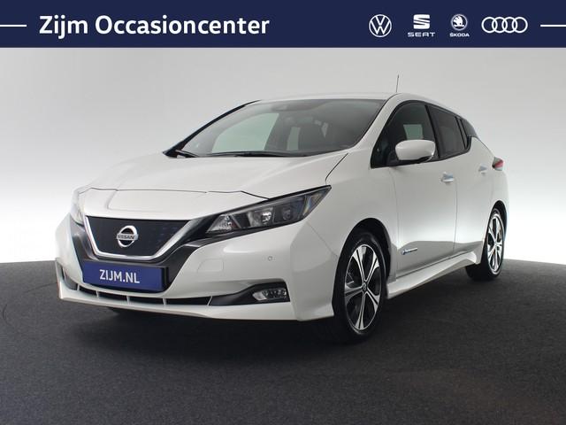 Nissan Leaf N-Connecta 150pk 40 kWh | Stoelverwarming | Navigatiesysteem | Parkeersensoren V+A+Camera | Keyless | Achterbank verwarmd | LM v