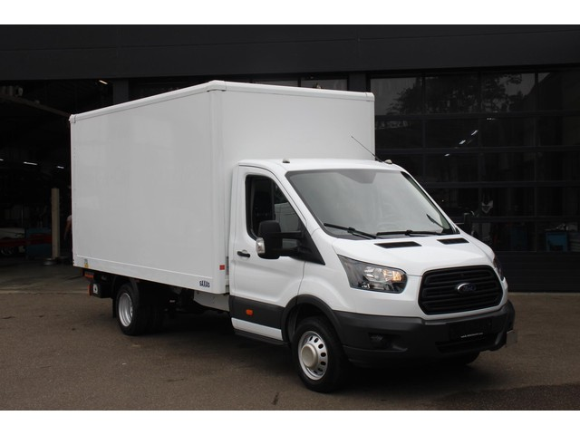 Ford Transit 2.0 TDCi 130 pk Bakwagen met Laadklep Airco LxBxH 420x224x210 cm, Dubbel lucht achter