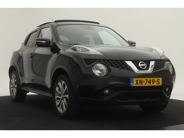 Nissan Juke 1.6 Tekna | Automaat | Panoramadak | Leder | Xenon | 360 camera | Stoelverwarming | Keyless | Navigatie | Bluetooth