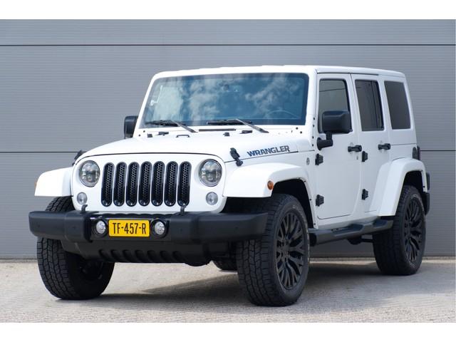 Jeep Wrangler Unlimited 3.6 289PK Autm. Sahara, Airco, Leder, 20´´ KAHN, Navi, White & Black Edition.