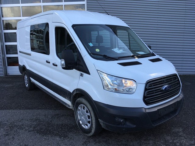 Ford Transit 350 2.0 TDCI 170 pk L3H2 DC Dubbel Cabine 7 P PDC Cruise Airco
