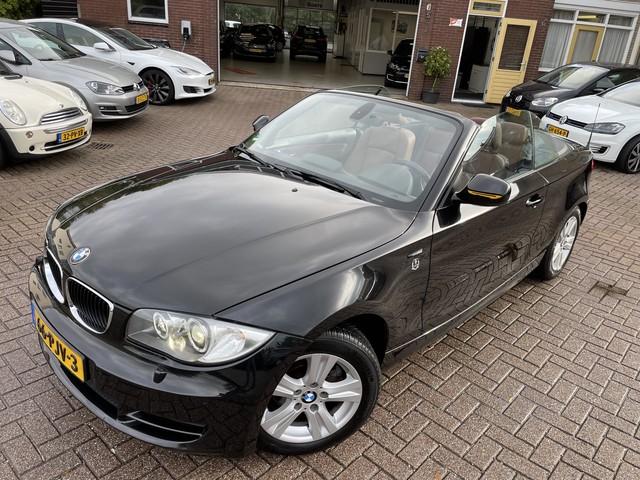 BMW 1 Serie Cabrio 120i 170pk High Executive Leer, Navi, afn.Trekhaak